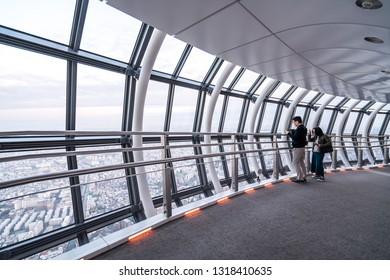 TOKYO - November 22, 2018: Star Wars Tokyo Sky Walk at Tokyo Skytree. Sumida. Tokyo. Japan.