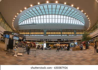TOKYO- OCT 28: Interior transit area of Narita International Airport on Oct 28, 2016 in Tokyo, Japan.