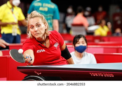 Tokyo Paralympic Games 2020, 25th August: Table tennis, Tokyo, Japan. BRUNELLI Michela, Italy