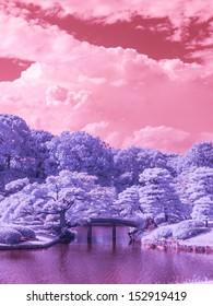 Tokyo Park Japan. Extended Infrared.