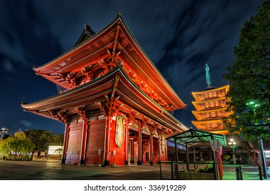 Tokyo - Sensoji-ji Temple in Asakusa at night