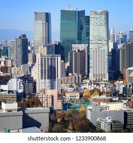Tokyo skyline - capital city of Japan view with Roppongi and Shinjuku districts.