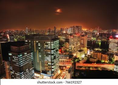 Tokyo Skyline from Daiba, Japan taken in 2015