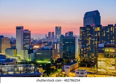Tokyo Skyline in the Evening