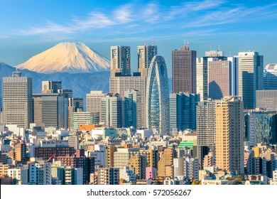 Tokyo skyline and Mountain fuji in Japan