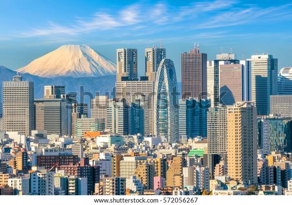 Tokyo Skyline und Mountain Fuji in Japan