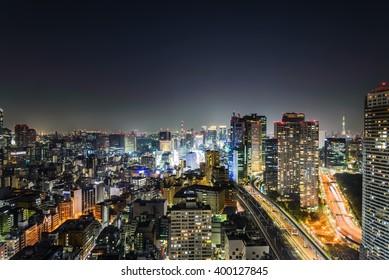 Tokyo Skyline at night time