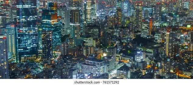 Tokyo Skyline : November 16 , 2017 : Tokyo Japan