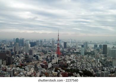 tokyo skyline, Tokyo Tower