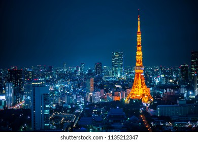 Tokyo Tower and the cityscape