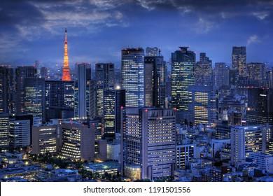 Tokyo Tower and Tokyo skyline