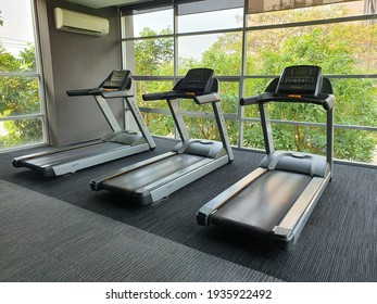 Tokyo,Japan 14March 2021: Fitness room Of the 2021 Olympic athletes at Tokyo