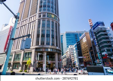 TOKYO,JAPAN - 5 May 2015 : Mitsukoshi Nihonbashi, became Japan's first department store and still stands in the district's center