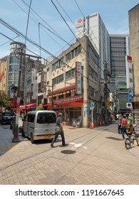 Tokyo/Japan - August 4 2018: Chome Asakusa street, Asakusa district, Tokyo. Asakusa  is a district in Tokyo, Japan, famous for the Senso-ji, a Buddhist temple dedicated to the  bodhisattva Kannon.
