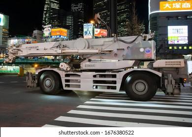Tokyo/Japan March 7, 2020 ROUGH TERRAIN CRANE Tadano GR-600 N-1
