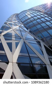 Tokyo/Japan - May 04 2013 : Mode Gakuen Cocoon Tower. A 50 stories building located in the Nishi-Shinjuku Tokyo designed by Tange Associates.