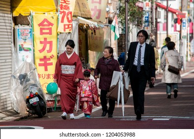 Tokyo/Japan - November 6, 2015: Japanese is visting a temple in the autumn.