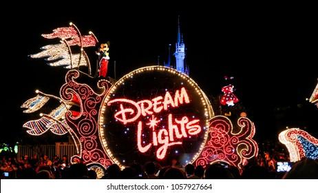 Tokyo/Japan-September 21 2016: Magic Electrical Parade Dream Lights in Tokyo Disneyland
