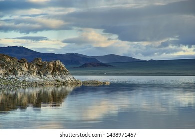 Tolbo Nuur Lake  in Mongolia, landscapes of Western Mongolia, Asia travels, mountain lake