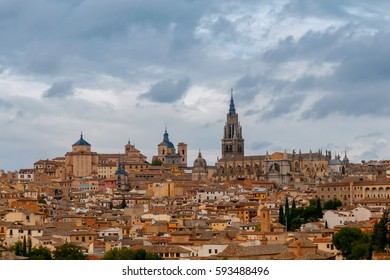 Toledo. Aerial view of the city.