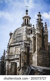 Toledo Cathedral facade, spanish church