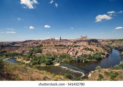 Toledo cityscape, Castilla la Mancha, Spain.