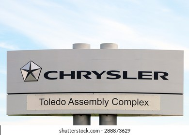 TOLEDO, OHIO-JUNE, 2015:  Sign for the Jeep manufacturing plant in Toledo, Ohio.  Jeeps have been built here since World War II.
