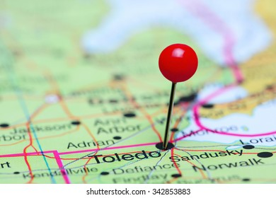 Toledo pinned on a map of USA