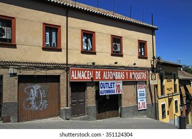 TOLEDO, SPAIN - AUGUST 24, 2012: View of Toledo streets