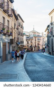 TOLEDO, SPAIN - OCTOBER 6, 2018: street in the old town of Toledo, Spain