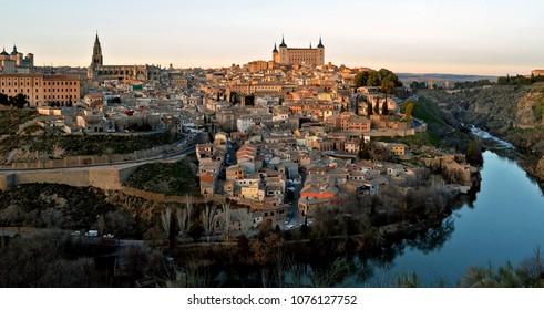 Toledo, Spain at Sunset