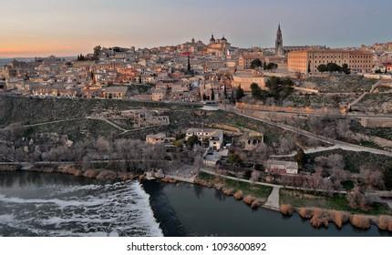 Toledo Sunset Cityscape View