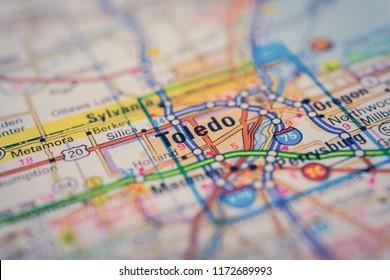 Toledo USA on the map