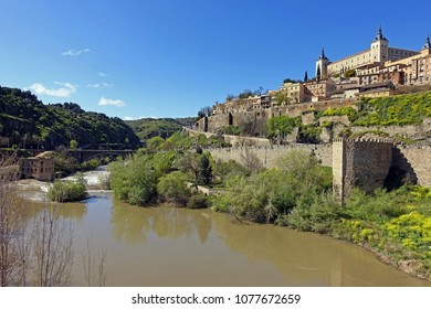 Toledo, view from alcantara bridge, Spain
