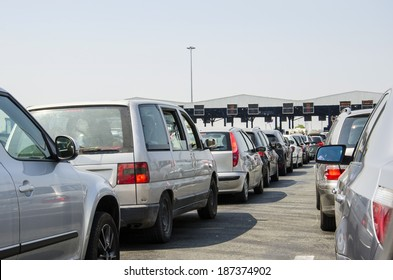 Toll collecting causing massive traffic congestion during rush hours.
