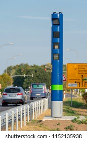 Toll control pillar at the roadside