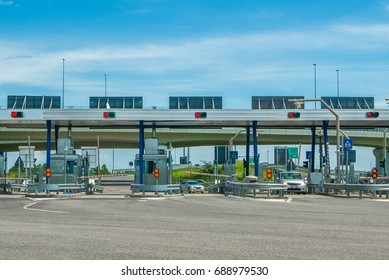 Toll gate motorway entrance