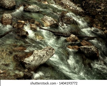Tolmin Gorge, also called Tolminska Korita, is a 1 km long gorge located on the southern end of Triglav National Park. This gorge has been carved out by the Tolminka and Zadlascica Rivers. Hot spring
