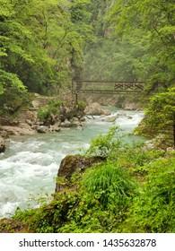 tolmin gorge in slovenia triglav
