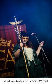 Tolmin, Slovenia - July 25th: Italian metal band Fleshgod Apocalypse performing at Metaldays Festival on July 25th, 2016 in Tolmin, Slovenia