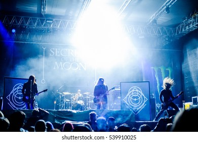 Tolmin, Slovenia - July 26th: Black Metal band Secrets Of The Moon performing at Metaldays Festival on July 26th, 2016 in Tolmin, Slovenia