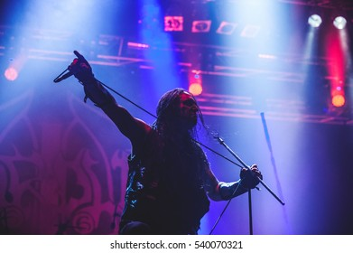 Tolmin, Slovenia - July 27th: Swedish black metal band Marduk performing at Metaldays Festival on July 27th, 2016 in Tolmin, Slovenia