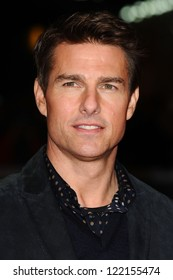 """Tom Cruise arrives for the """"Jack Reacher"""" premiere at the Odeon Leicester Square, London. 10/12/2012 Picture by: Steve Vas"""
