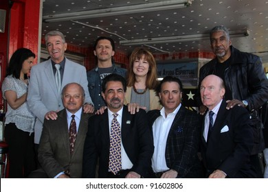 Tom Dreesen, Clifton Collins Jr., Lee Purcel, Stan Shaw, Dennis Franz, Joe Mantegna, Andy Garcia, Ed Lauter at Joe Mantegna's induction into the Hollywood Walk Of Fame, Hollywood, CA, 04-29-11