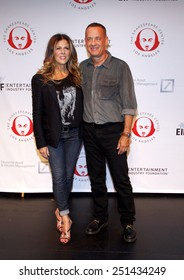 Tom Hanks and Rita Wilson at the 23rd. Annual Simply Shakespeare held at the Broad Stage in Santa Monica, California, United States on September 25, 2013.
