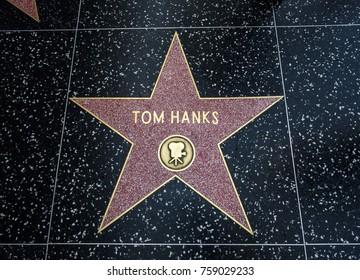 Tom Hanks's Star, Hollywood Walk of Fame - August 11th, 2017 - Hollywood Boulevard, Los Angeles, California, CA, USA