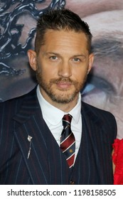 Tom Hardy at the Los Angeles premiere of 'Venom' held at the Regency Village Theatre in Westwood, USA on October 1, 2018.