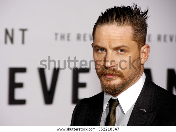Tom Hardy at the Los Angeles premiere of 'The Revenant' held at the TCL Chinese Theatre in Hollywood, USA on December 16, 2015.
