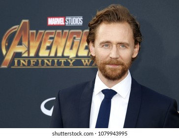 Tom Hiddleston at the premiere of Disney and Marvel's 'Avengers: Infinity War' held at the El Capitan Theatre in Hollywood, USA on April 23, 2018.