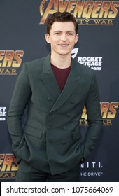 Tom Holland at the premiere of Disney and Marvel's 'Avengers: Infinity War' held at the El Capitan Theatre in Hollywood, USA on April 23, 2018.